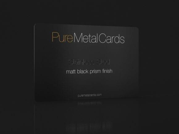 PureMetalCards_SS matt black prism
