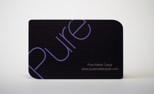 Pure metal cards be unique matt black stainless steel cards reheart Image collections