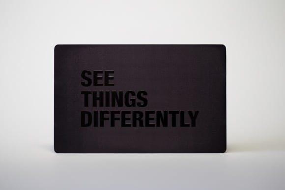 Matt Black Prism Stainless Steel Cards