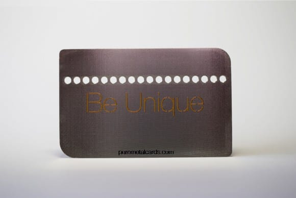 Silver Prism Stainless Steel Cards