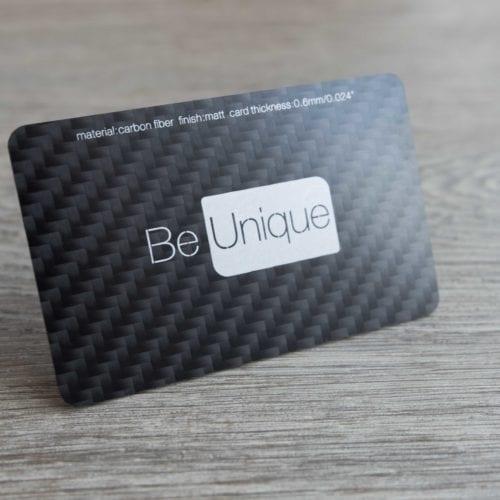 Pure Metal Cards carbon fiber business card
