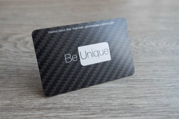 Pure Metal Cards carbon fiber business card