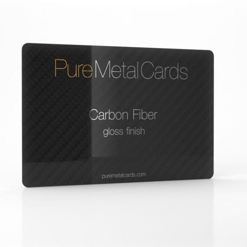 Pure Metal Cards gloss carbon fiber business card