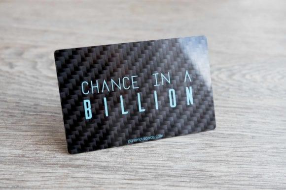 Pure Metal Cards gloss carbon fiber business card