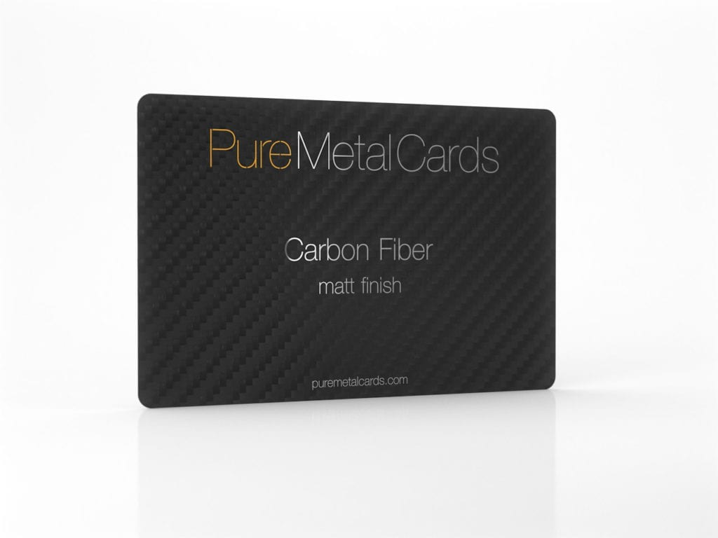 Pure Metal Cards matt black card carbon