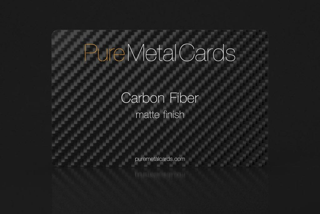 Carbon Fiber Cards | PURE METAL CARDS