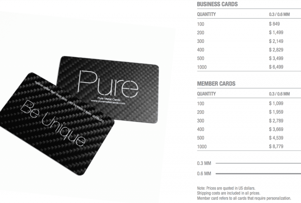 Pure-Metal-Cards-Carbon-Fiber-Pricing-Table-1