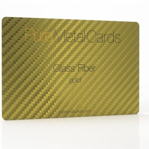 Pure Metal Cards gold glass fiber card