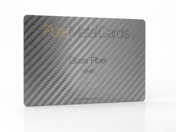 Pure Metal Cards silver glass fiber card