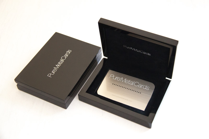 packaging design to make an impact - Metal Business Card Case