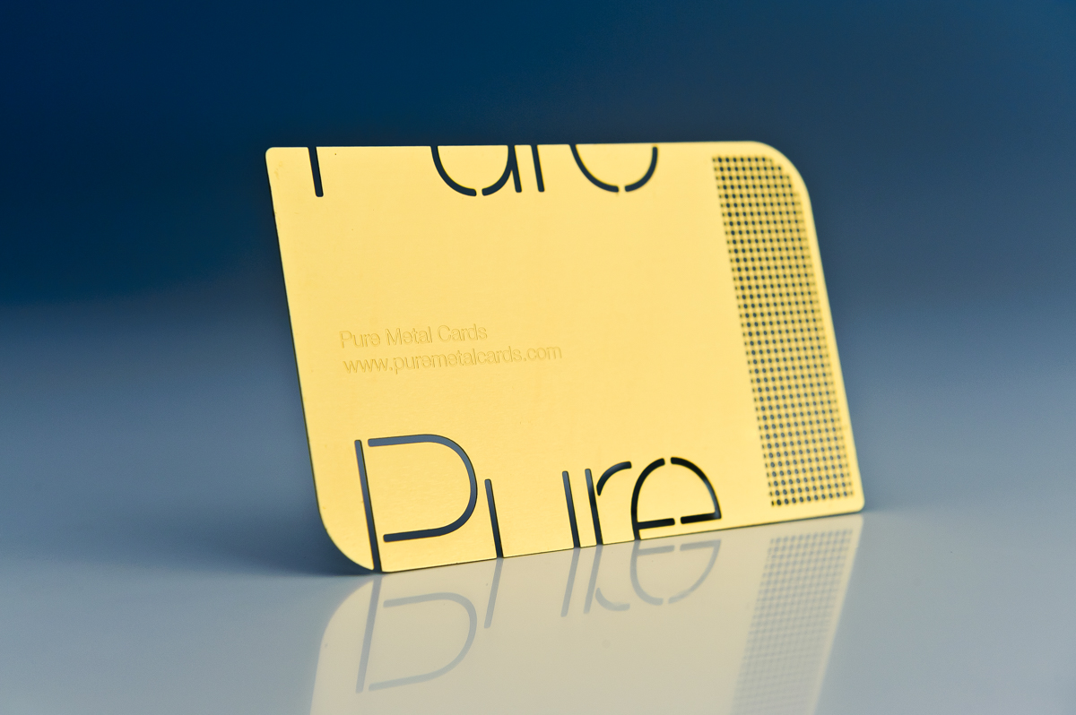 Switch to metal business cards | PURE METAL CARDS