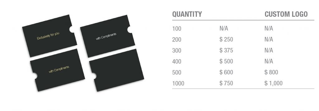 luxury-card-sleeve-pricing-table