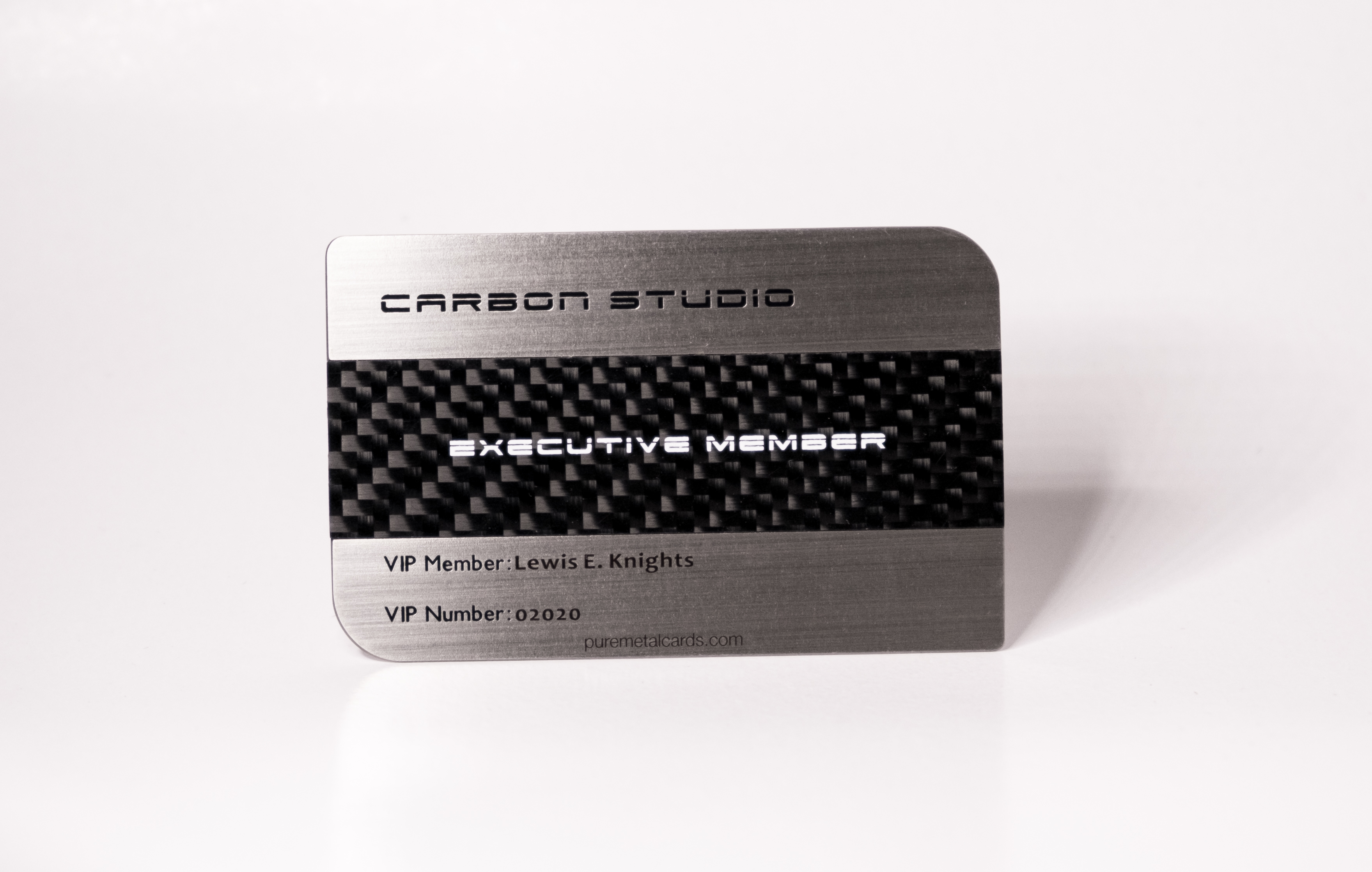 Brushed stainless steel carbon fiber business cards pure metal cards dual finish steel carbon fiber card magicingreecefo Gallery