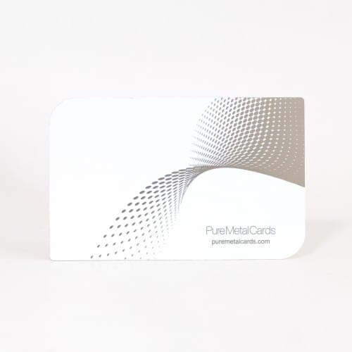 Pure Metal Cards white stainless steel member card