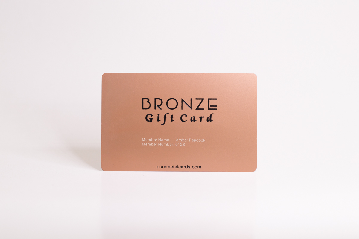 bronze metal card by Pure Metal Cards