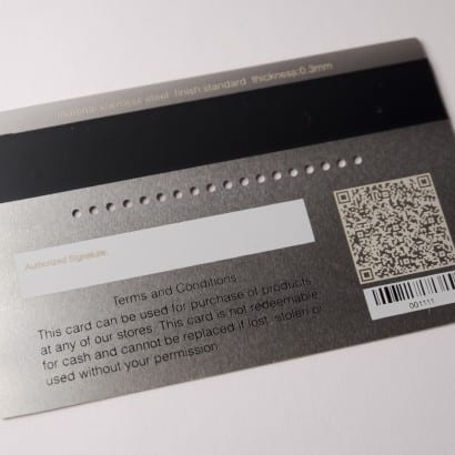 metal gift cards by pure metal cards