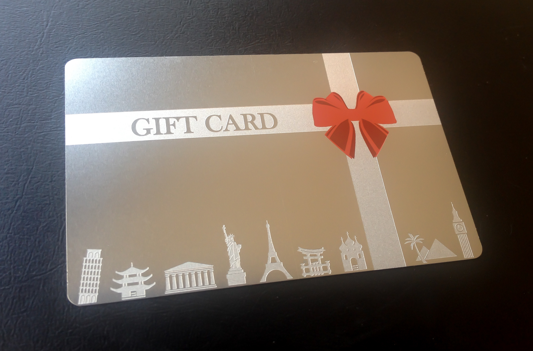 stainnless steel meta gift card by pure metal cards