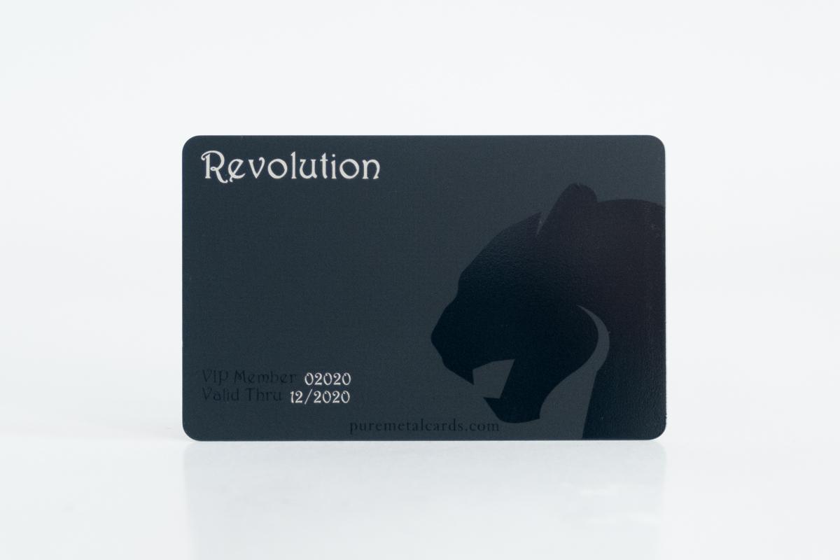 Matt Black Titanium Cards | PURE METAL CARDS