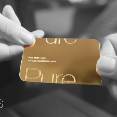 Pure Metal Cards luxury gold card