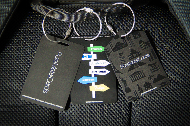 Pure Metal Cards - metal bag tag - metal luggage tags