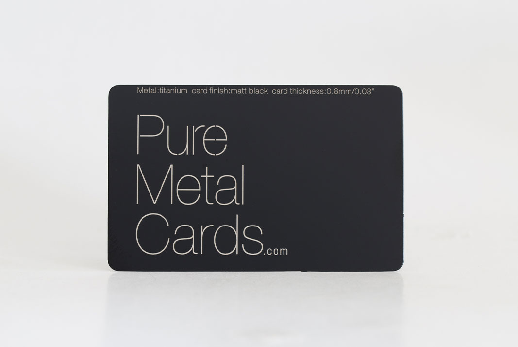 Matt Black Titanium Cards | PURE METAL CARDS