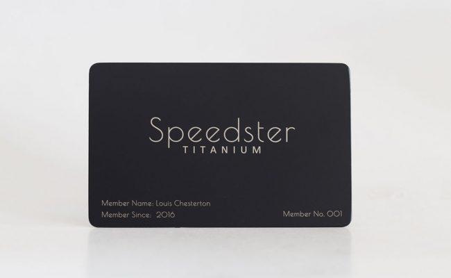Matt black titanium business cards