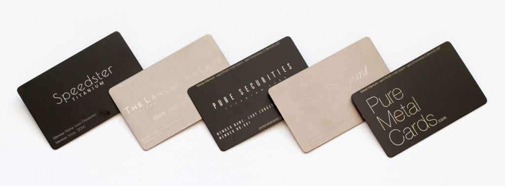 Pure Metal Cards titanium card