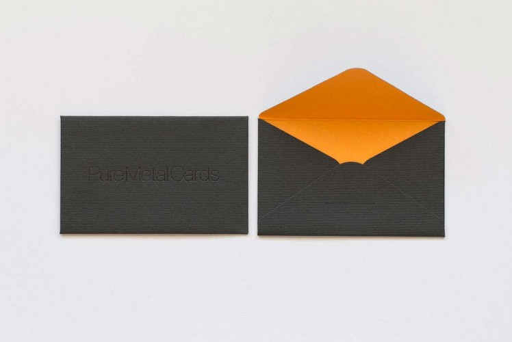 Matt Black Frosted Stainless Steel Cards