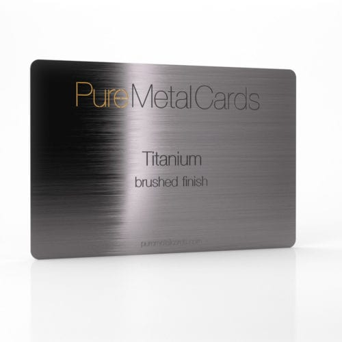 Pure Metal Cards brushed titanium card