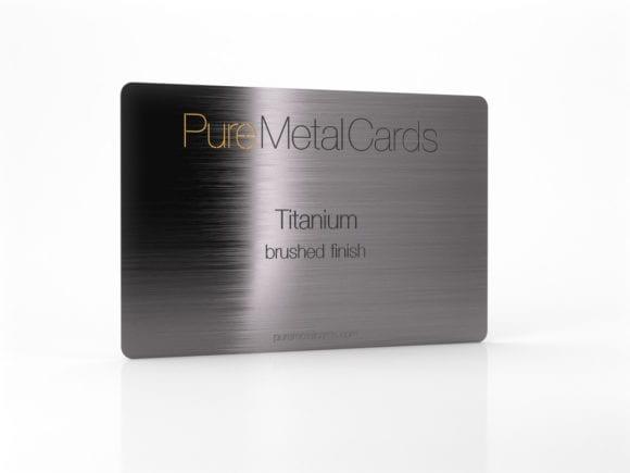 Pure Metal Cards brushed titanium card