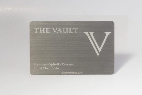 Pure Metal Cards - brushed titanium card