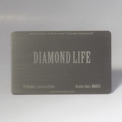 Pure Metal Cards - brushed titanium card