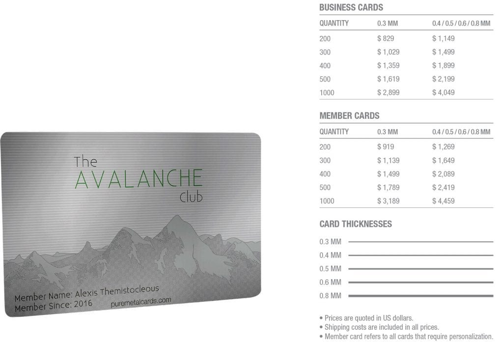 pmc-silver-stainless-steel-contour-card-pricing