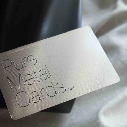 Pure Metal Cards silver contour card_009