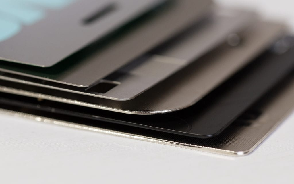 Pure Metal Cards - card thickness
