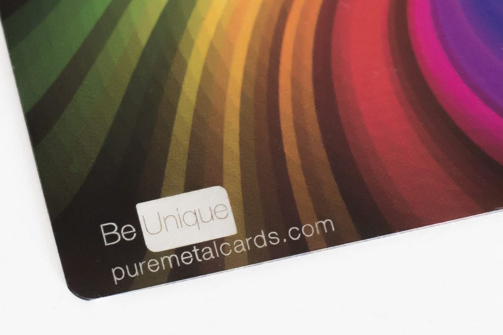 Pure Metal Cards full color metal business card