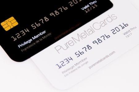Pure Metal Cards - metal member card personalization