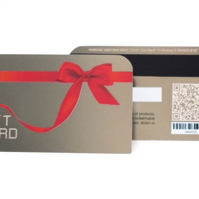 Standard Stainless Steel (Gift) Card