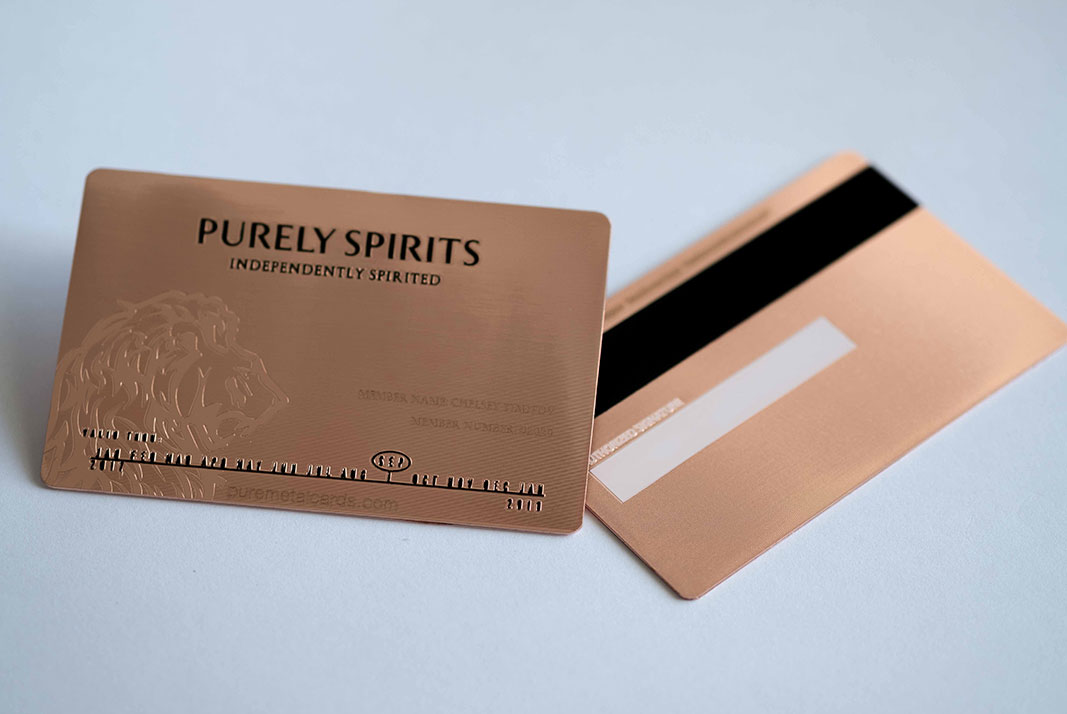 Copper Contour Cards | PURE METAL CARDS