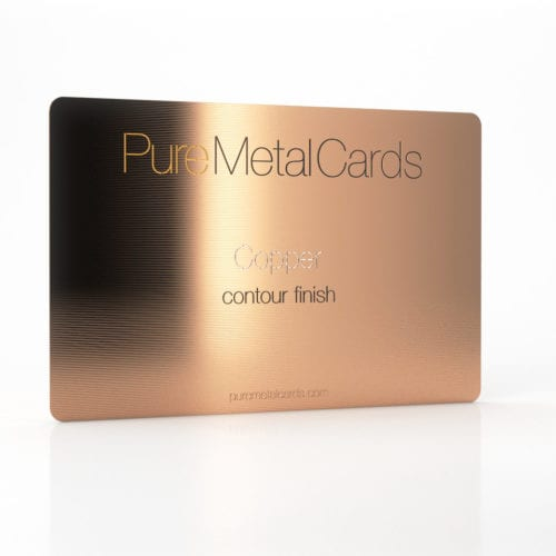Pure Metal Cards contour copper business card