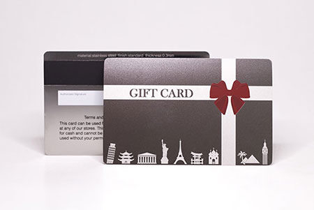 Metal Gift & Loyalty Cards