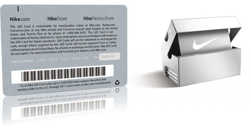 Nike Metal Gift Card | PURE METAL CARDS