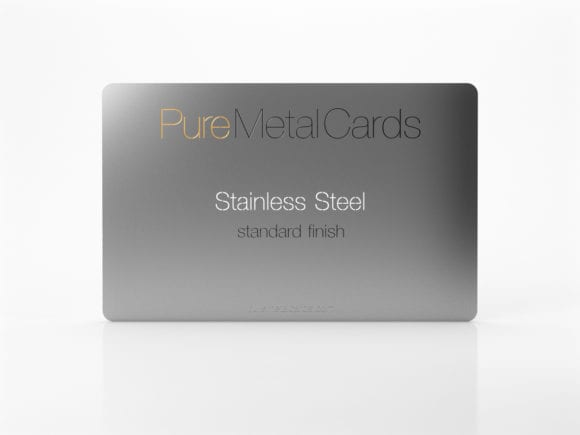 Pure Metal Cards - standard stainless steel card