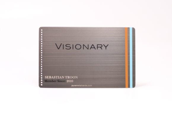Pure Metal Cards brushed gun metal gray stainless steel