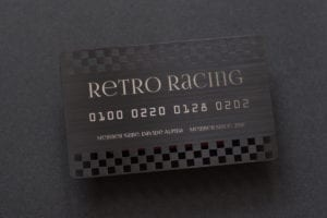Pure Metal Cards matt black brushed card