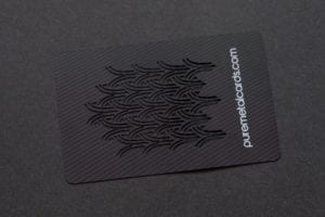 Pure Metal Cards matt black contour stainless steel card