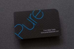 Pure Metal Cards matt black stainless steel card