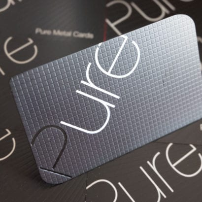 Pure Metal Cards matt black stainless steel
