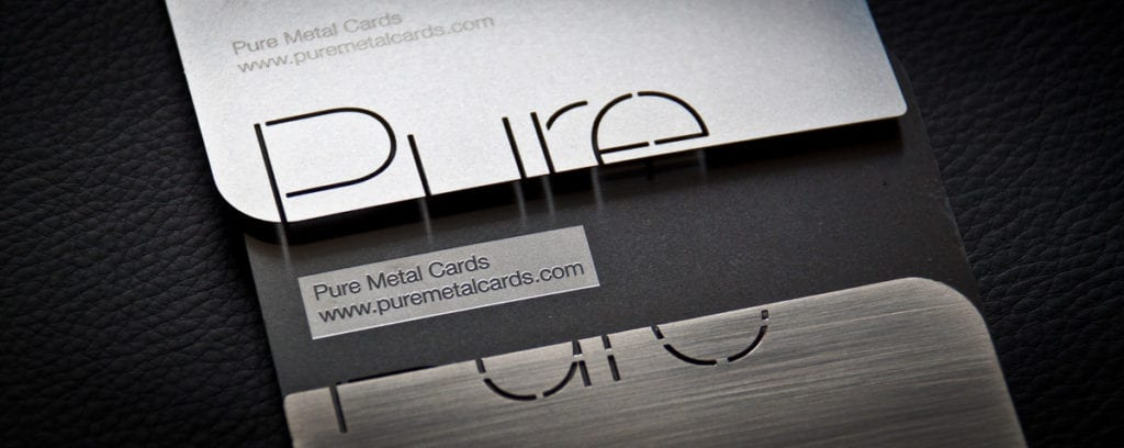 Metal business card by Pure Metal Cards