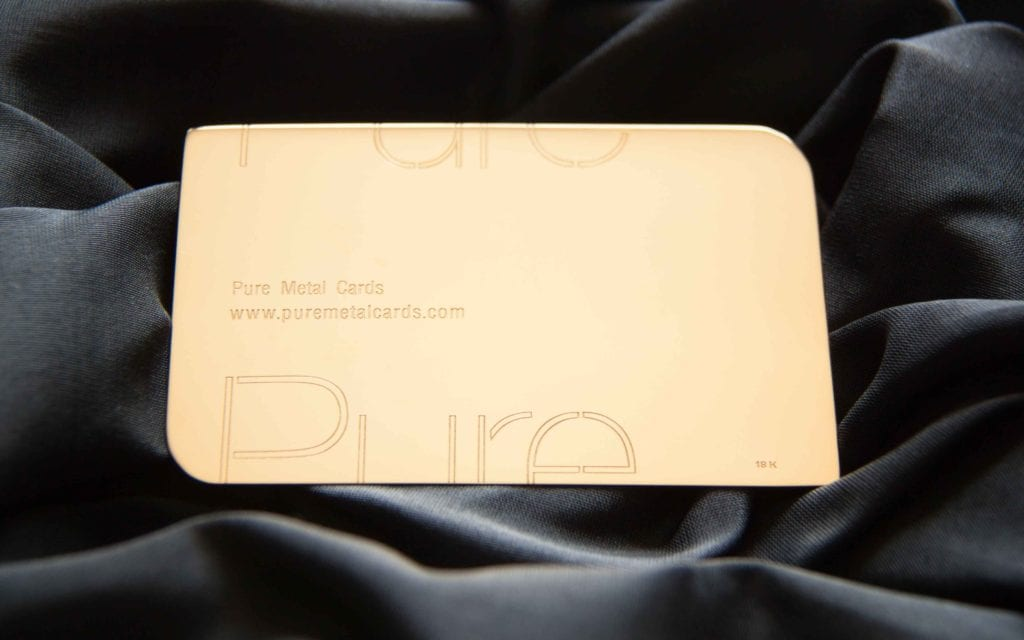 Pure Metal Cards gold 18kt card